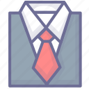 businessman, clothes, clothing, shirt, suit icon