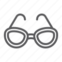 eye, eyeglasses, fashion, glasses, lens, sun, sunglasses icon