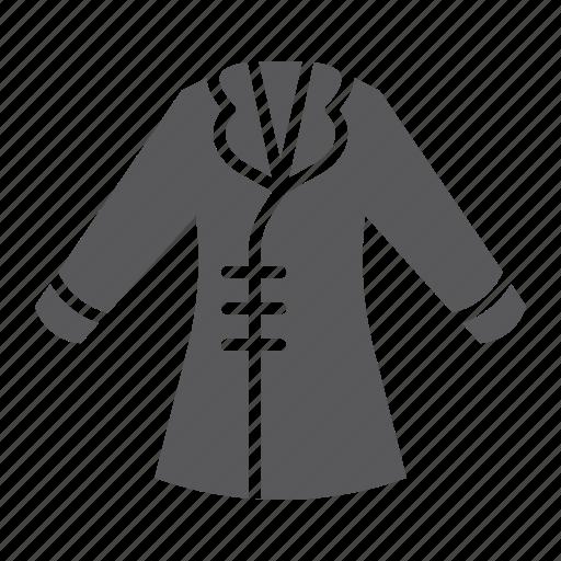 Clothing, coat, fashion, female, jacket, wear, winter icon - Download on Iconfinder