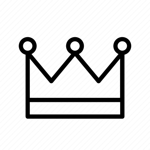 accessory, clothes, crown, king, queen icon