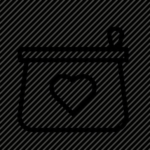 heart, love, overnight bag, toilet bag, toilet kit, vanity case, vanity kit icon