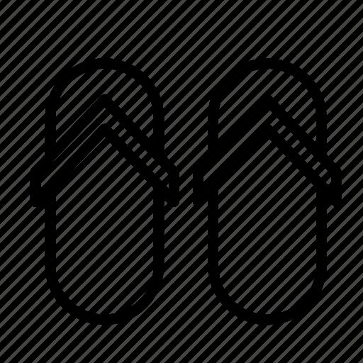 accessory, flip flop, flip-flop, sandal, shoe, shoes, slippers icon
