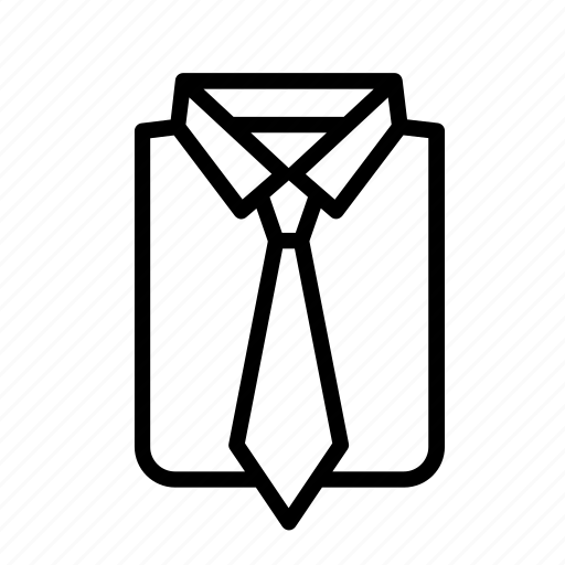 accessory, clothes, clothing, garment, shirt, suit, tie icon