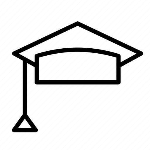 accessory, cap, clothes, college, graduation, hat, mortarboard icon