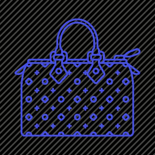 accessory, bags, brown, clothes, designer, handbag, pattern, purse, small icon