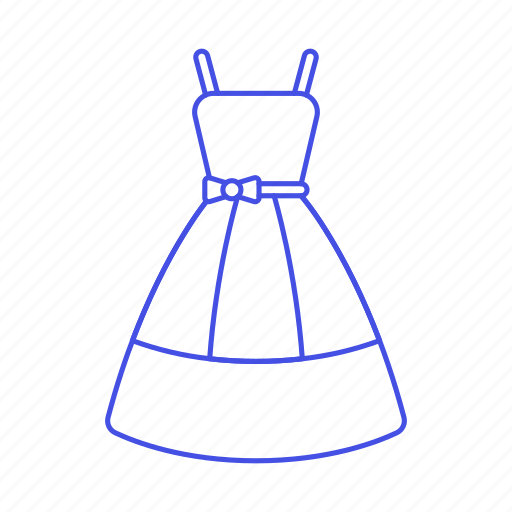 2, accessory, blue, clothes, dress, garment icon