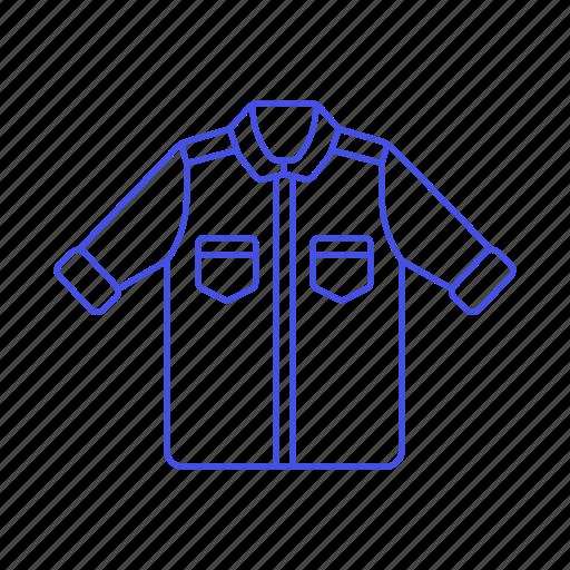 accessory, clothes, garment, jacket, salmon, short, sleeve icon
