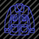 garment, orange, pocket, leather, clothes, four, accessory, jacket icon