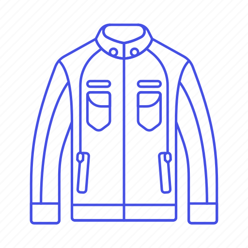 accessory, biker, black, clothes, garment, jacket, leather, racer icon