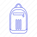 accessory, adidas, backpack, bag, blue, clothes, light, luggage icon
