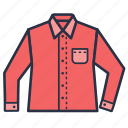 clothes, fashion, full, garments, men, shirt icon