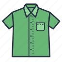 clothes, fashion, garments, half, men, shirt icon