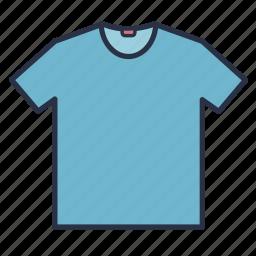 clothes, fashion, garments, men, neck, round, shirt icon