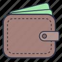 accessories, clothes, fashion, men, money, purse, wallet icon