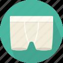 boxer, brief, masculine, mens short, underpant, underwear, wear icon