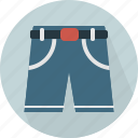 belt, comfortable, fabric, male, shortpants, shorts, wear icon