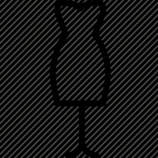 dress, manequin, plain, woman icon