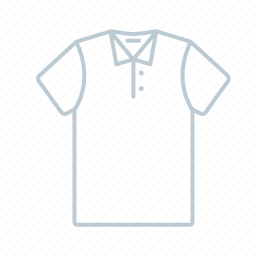 clothes, men, outline, polo, shirt, summer, t-shirt icon