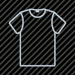 clothes, men, outline, shirt, summer, t-shirt, tshirt icon icon