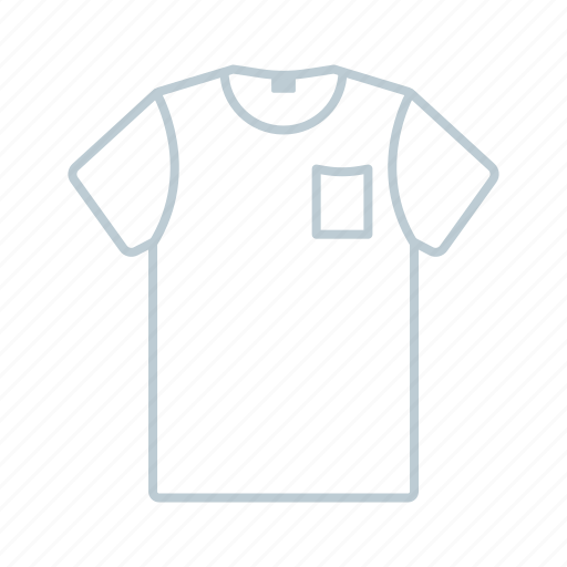 clothes, men, outline, shirt, summer, t-shirt, tshirt icon icon