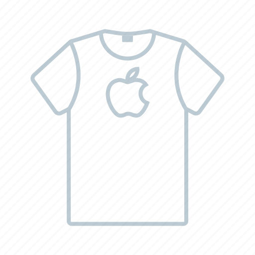 apple, clothes, outline, shirt, summer, t-shirt, tshirt icon icon