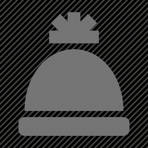 beanie, hat, pompom icon