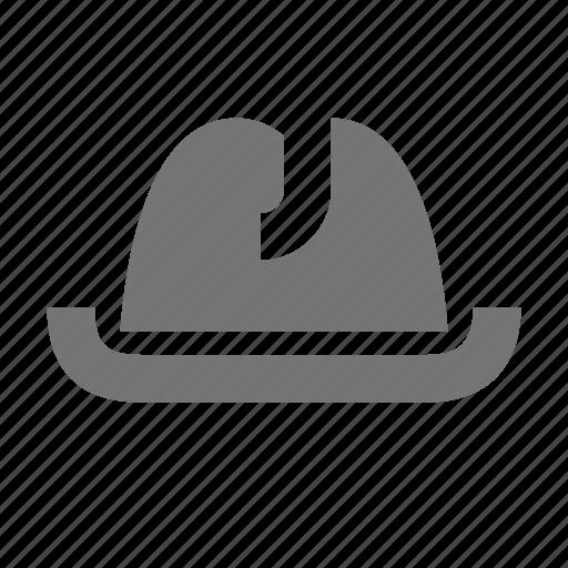detective, hat icon