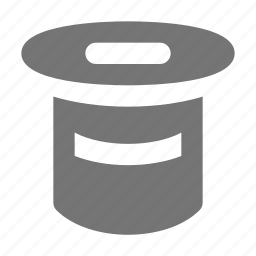 hat, magician, top hat icon