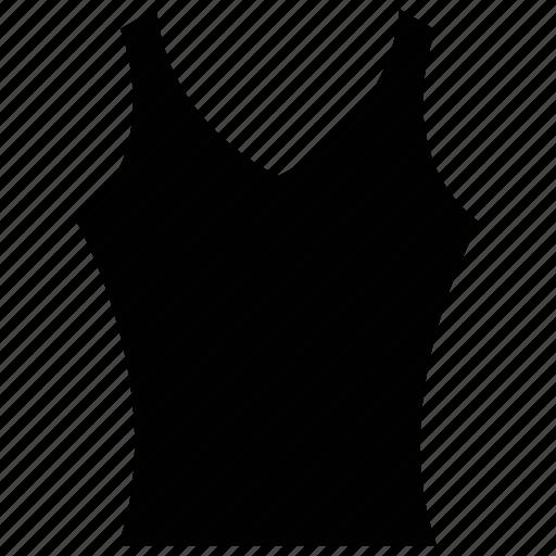 clothing, ladies, v- neck, vest icon