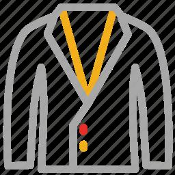 coat, dress coat, formal coat, suit coat icon