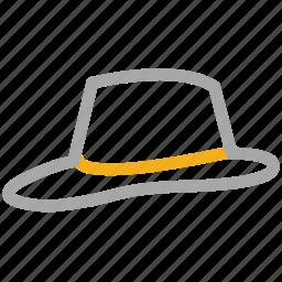 elegant, fancy, hat, vintage icon
