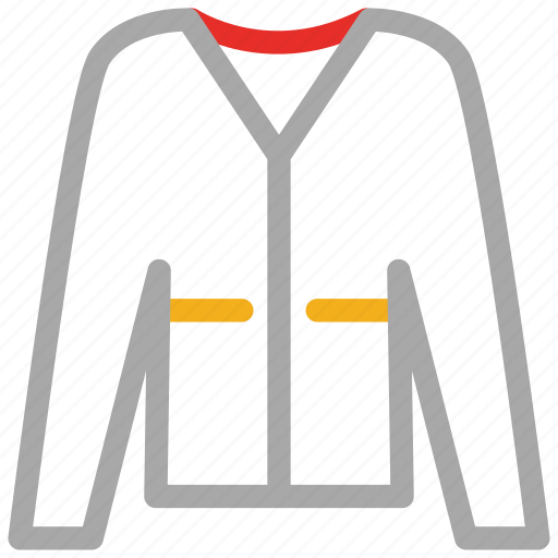 cardigan, jersey, sweater, v-shape, woman's icon