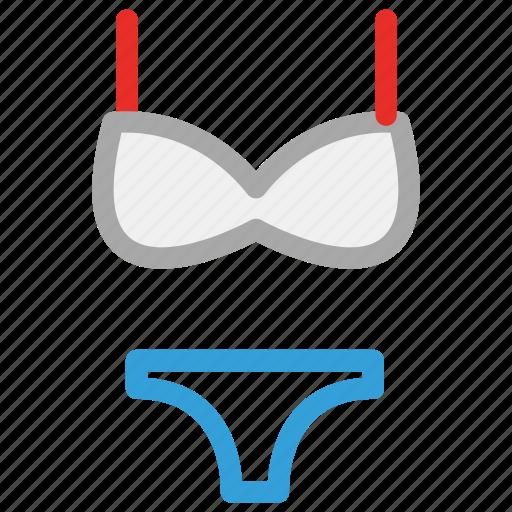 bikini, bra, underwear, women icon