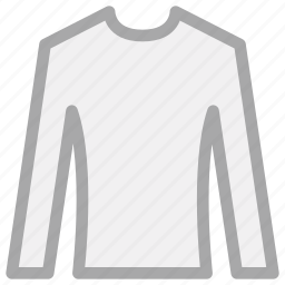 crew neck, round neck shirt, round-neck, shirt icon