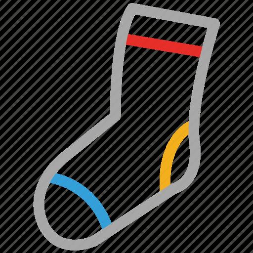 sock, stoking, winter, winter wear icon