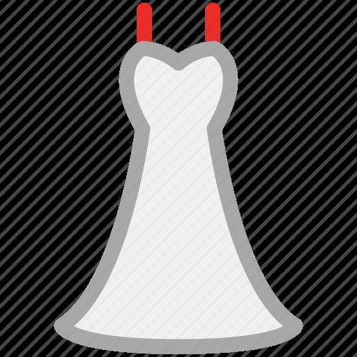 babydoll, dress, wedding, women's icon