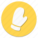 circular, cloth, clothes, clothing, fashion, glove, wear icon