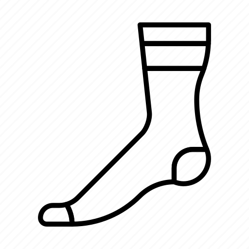 christmas, foot, sock, wear, winter, xmas icon