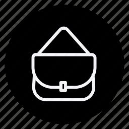 bag, clothes, clothing, dress, man, shoulder bag, woman icon