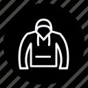 clothes, clothing, dress, fashion, hoodie, man, woman icon