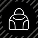bag, clothes, clothing, dress, fashion, handbag, woman icon