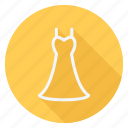 clothes, clothing, dress, fashion, long dress, man, woman icon