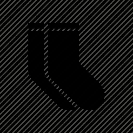 basic, casual, clothing, fabric, fashion, pair, socks icon