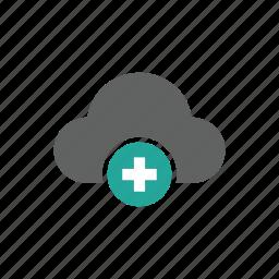 add, cloud, new, plus icon