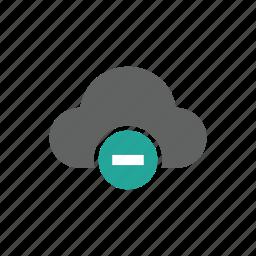 cloud, delete, error, minus, remove icon