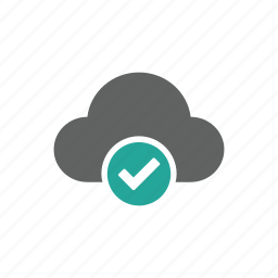 check, check mark, cloud, update, updated icon