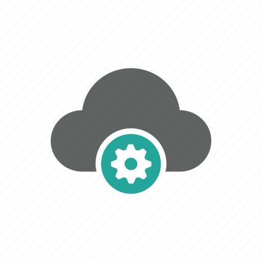 cloud, gear, options, setting icon