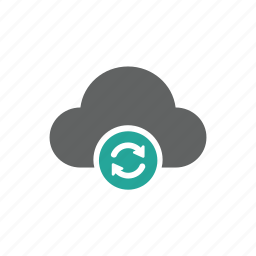 cloud, update, updated, updating icon