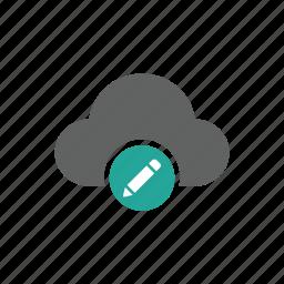 change, cloud, edit, pen, write icon