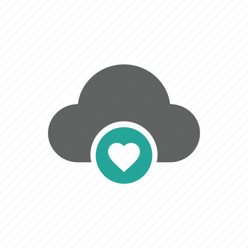 cloud, favorite, guardar, heart, important, like, love, save icon